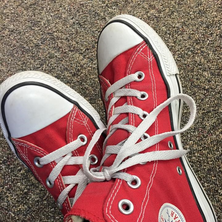 I rarely get compliments from middle schoolers on what I wear, but they do like my Chucks.